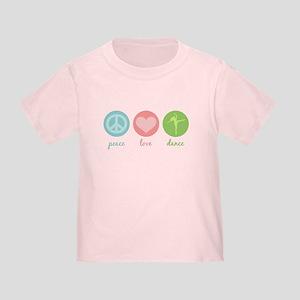 Peace, Love & Dance Toddler T-Shirt