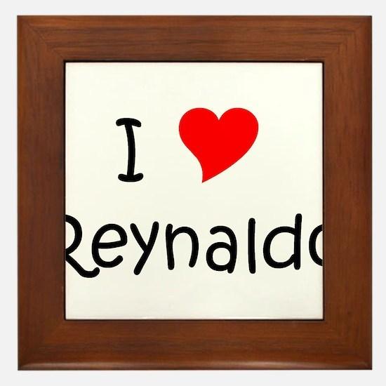 Cute Heart reynaldo Framed Tile