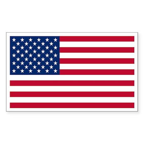 United States Flag Sticker Rectangle Sticker 10 p