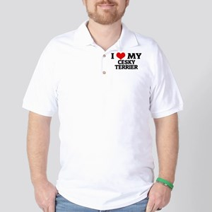 I Love My Cesky Terrier Golf Shirt