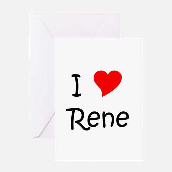 Cute I love rene Greeting Card