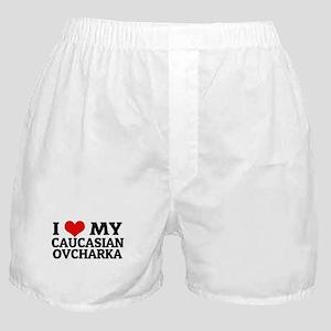 I Love My Caucasian Ovcharka Boxer Shorts