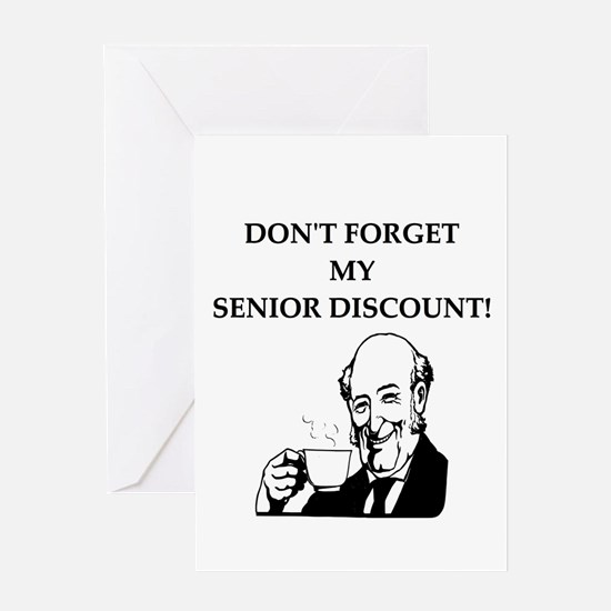 retiree senior citizen Greeting Card