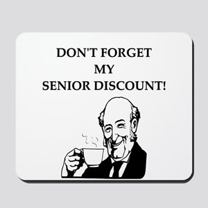 retiree senior citizen Mousepad