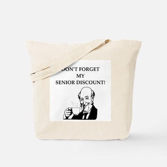 retiree senior citizen Tote Bag