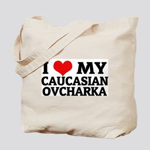 I Love My Caucasian Ovcharka Tote Bag