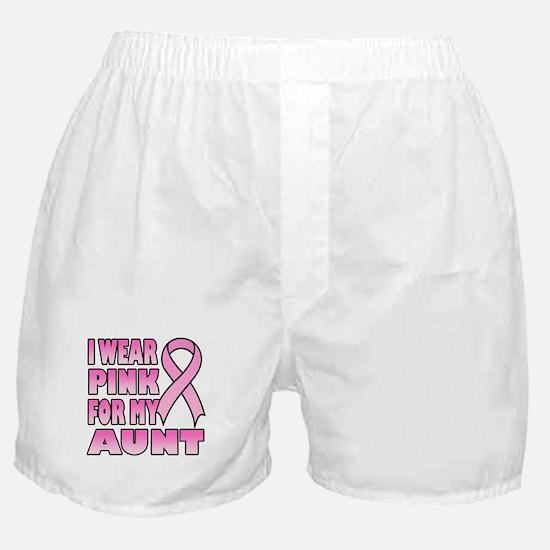 Aunt Pink Ribbon Boxer Shorts