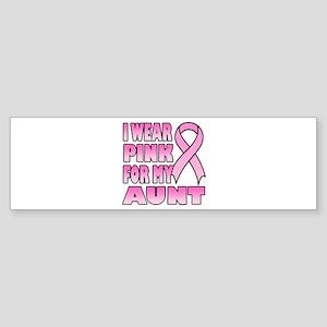 Aunt Pink Ribbon Bumper Sticker
