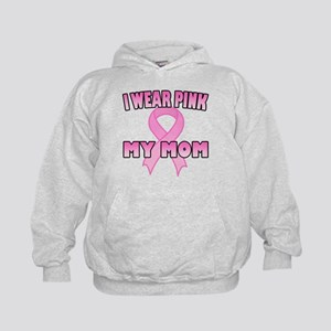 I Wear Pink for My Mom Kids Hoodie