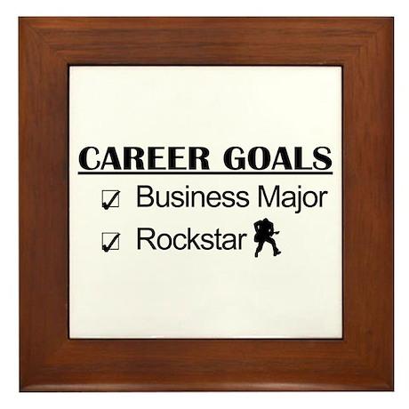 Business Major Career Goals Rockstar Framed Tile