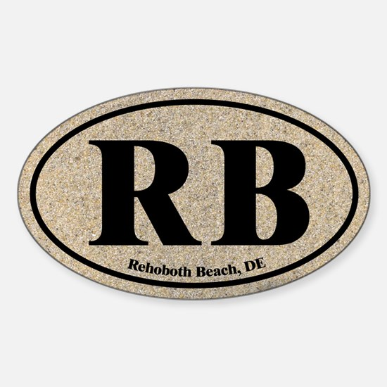 Rehoboth Beach RB Euro Oval Oval Decal