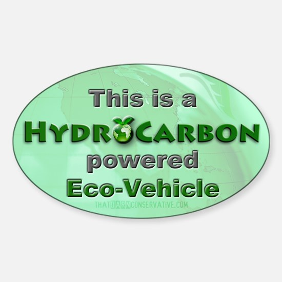 HydroCarbon Eco-Vehicle Oval Decal