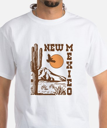 New Mexico White T-Shirt