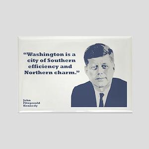 Kennedy - Washington Rectangle Magnet