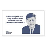 Kennedy - Washington Rectangle Sticker 10 pk)
