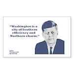 Kennedy - Washington Rectangle Sticker 50 pk)