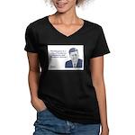 Kennedy - Washington Women's V-Neck Dark T-Shirt