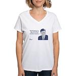 Kennedy - Washington Women's V-Neck T-Shirt