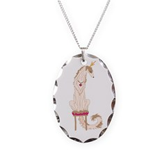 Borzoi Princess Gold/Tan Necklace