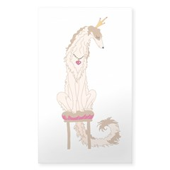 Borzoi Princess Gold/Tan Decal