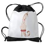 Borzoi Princess Gold/Tan Drawstring Bag