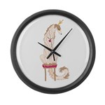 Borzoi Princess Gold/Tan Large Wall Clock