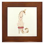 Borzoi Princess Gold/Tan Framed Tile