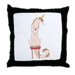 Borzoi Princess Gold/Tan Throw Pillow