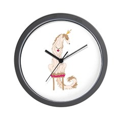 Borzoi Princess Gold/Tan Wall Clock