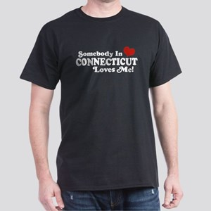 Somebody in Connecticut Loves Me Dark T-Shirt