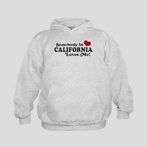 Somebody in California Loves Me Kids Hoodie