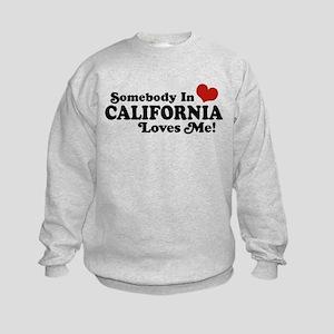 Somebody in California Loves Me Kids Sweatshirt