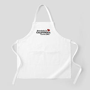 Somebody in California Loves Me BBQ Apron