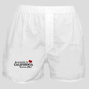 Somebody in California Loves Me Boxer Shorts