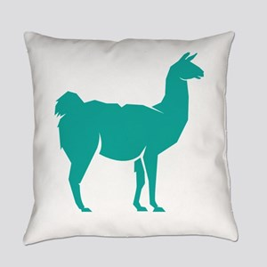 Llama Lama Alpaca Shilhouette Everyday Pillow