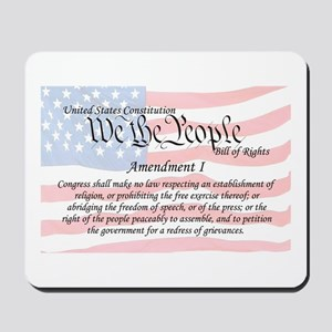 Amendment I and Flag Mousepad