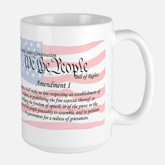 Amendment I and Flag Large Mug