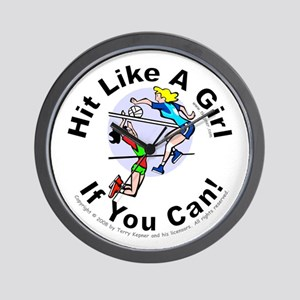 Hit/Girl (volleyball 1) Wall Clock