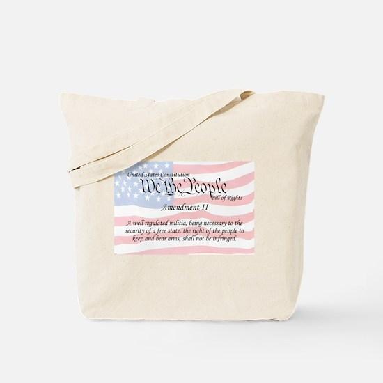Amendment II and Flag Tote Bag