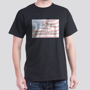 Amendment II and Flag Dark T-Shirt