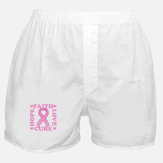 Hope Faith Love Cure Boxer Shorts