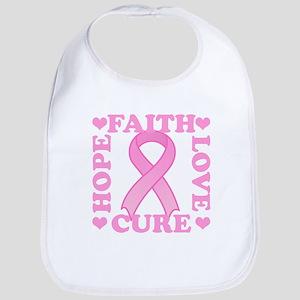 Hope Faith Love Cure Bib