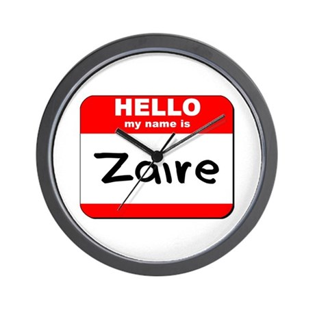 Hello my name is Zaire Wall Clock