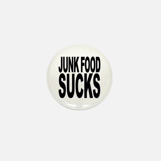 Junk Food Sucks Mini Button