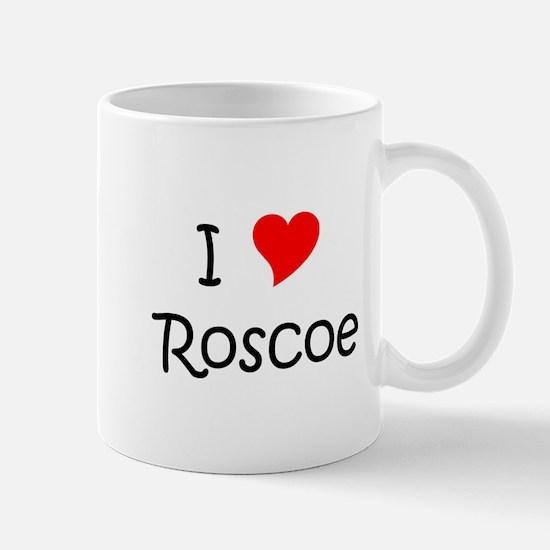 Cute I heart roscoe Mug