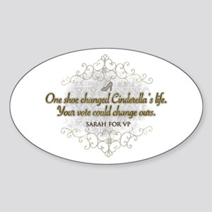 The Cinderella Palin Oval Sticker