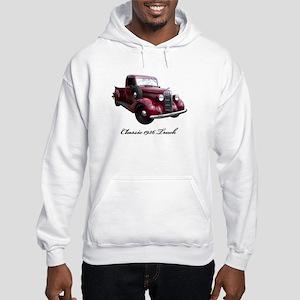 1936 Old Pickup Truck Hooded Sweatshirt