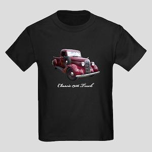 1936 Old Pickup Truck Kids Dark T-Shirt