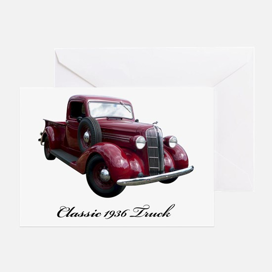 1936 Old Pickup Truck Greeting Card