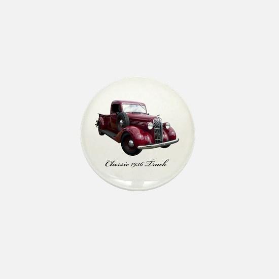 1936 Old Pickup Truck Mini Button